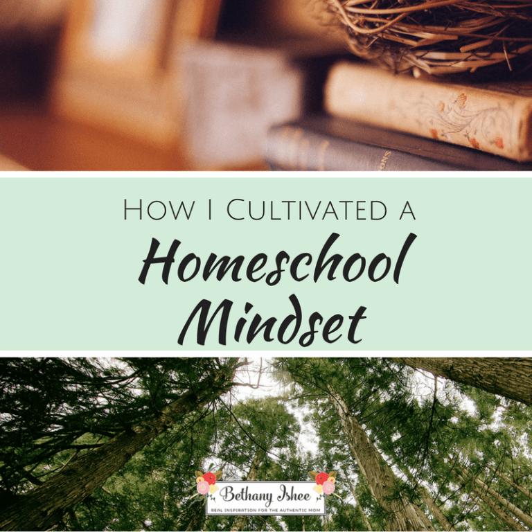 How I Cultivated a Homeschool Mindset