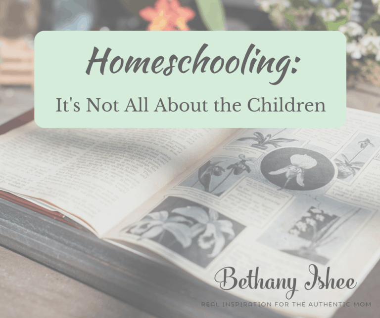 Homeschooling: It's Not All About the Children