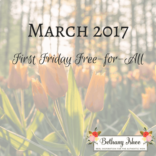 First Friday Free-for-All-March 2017 Edition