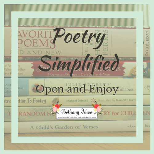 Poetry Simplified: Open and Enjoy