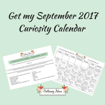 curiosity calendar homeschool