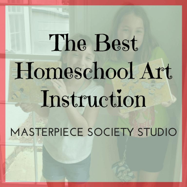 Masterpiece Society Studio-The Best Homeschool Art Instruction