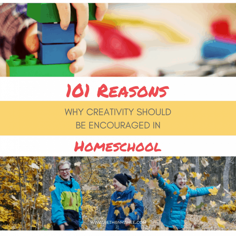 101 Reasons Why Creativity Should Be Encouraged in Homeschool