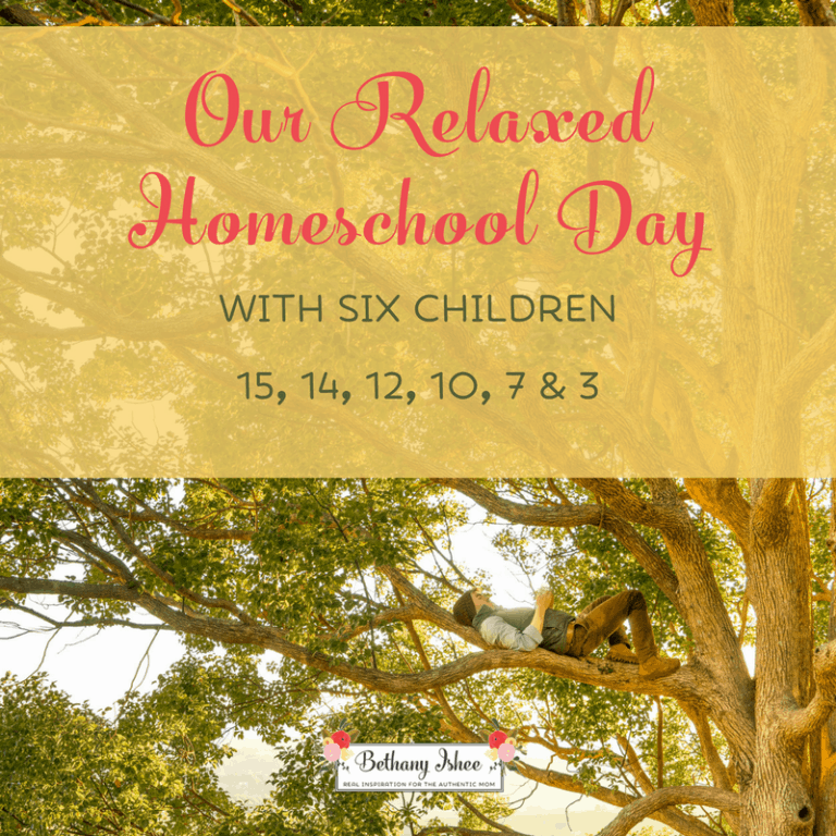 Our Relaxed Homeschool Day With Six Children (15, 14, 12, 10, 7, and 3)