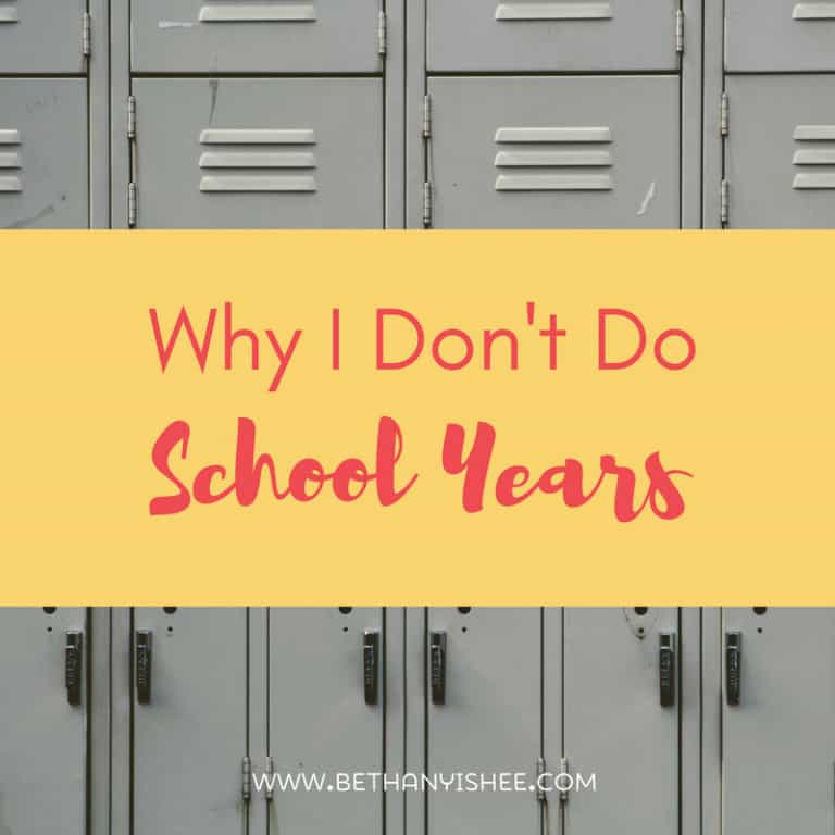 Why I Don't Do School Years and Does it Matter?
