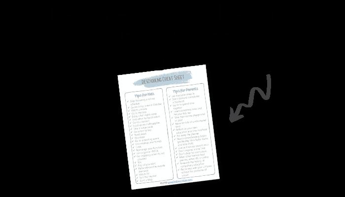 deschooling cheat sheet