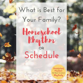 Homeschool rhythm or Schedule
