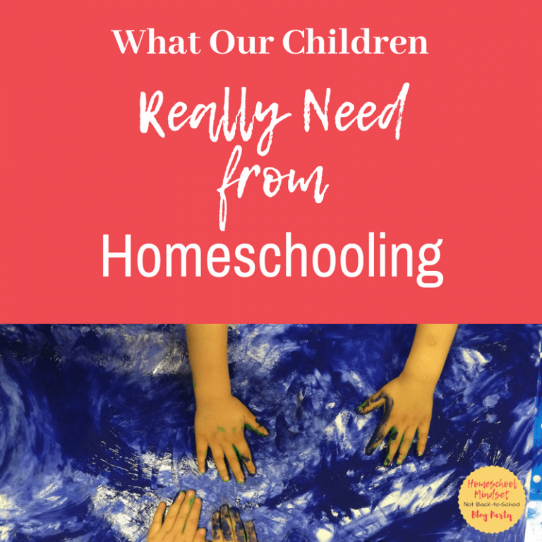 What Our Children Really Need from Homeschooling