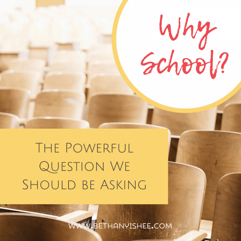 Why School? The Powerful Question We Should Be Asking