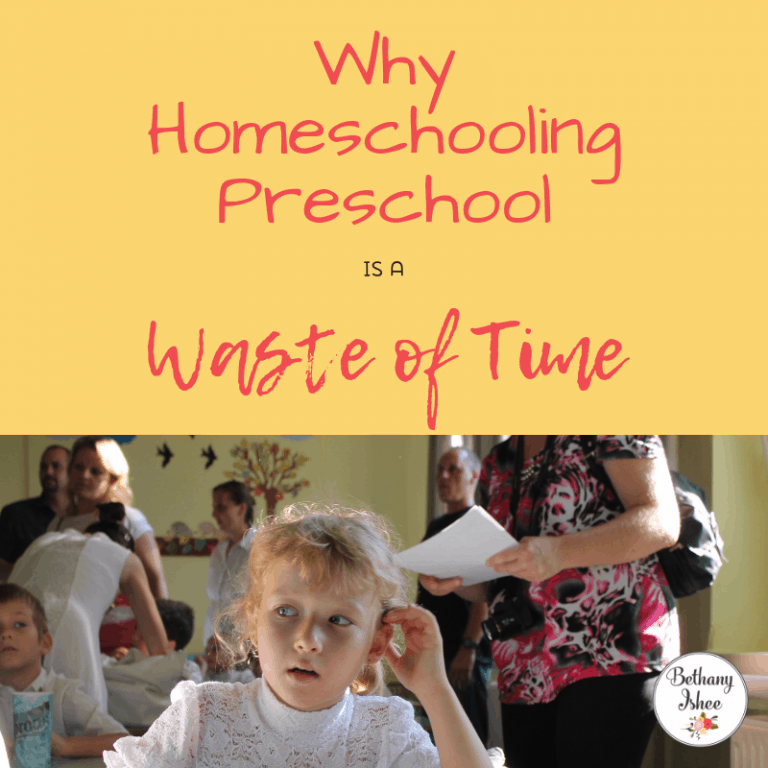 Why Homeschooling Preschool is a Waste of Time