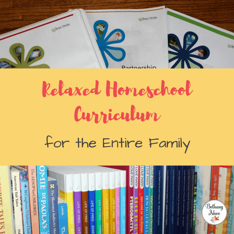 Relaxed Homeschool Curriculum For the Entire Family