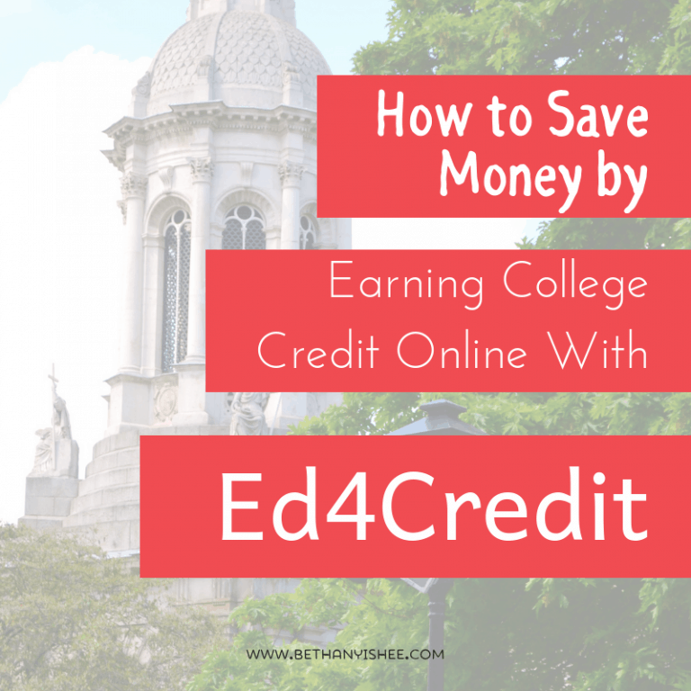 How to Save Money by Earning College Credit Online with Ed4Credit