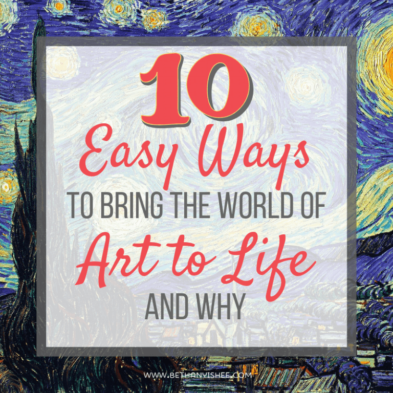 10 Easy Ways to Bring the World of Art History for Kids to Life