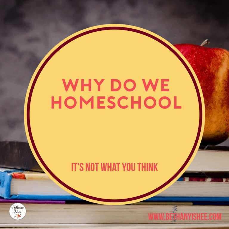 Why We Homeschool? It's Not What You Think