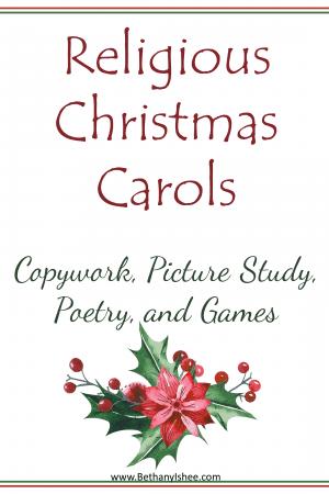 Religious Christmas Carols Copywork