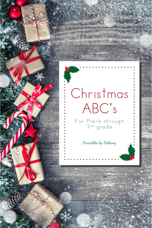 Christmas ABC Handwriting