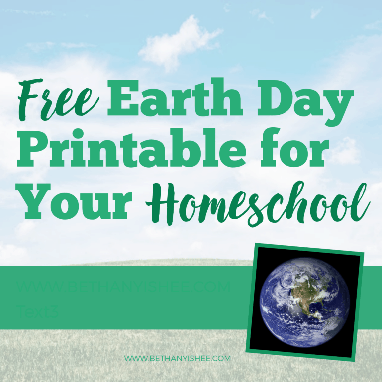 Free Earth Day Fun Pack For Your Homeschool
