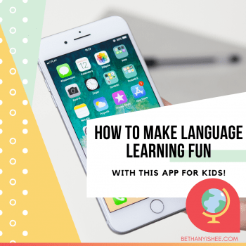 LANGUAGE LEARNING APP FOR KIDS