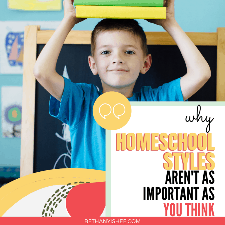 Why Homeschooling Styles Aren't As Important As You Think