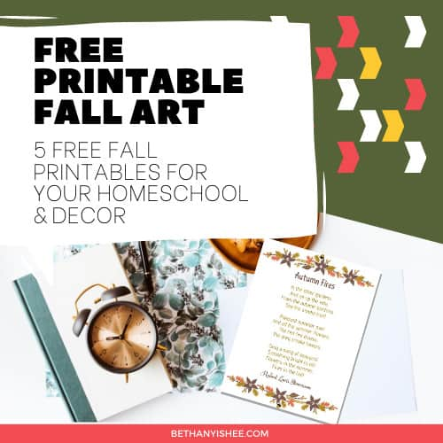 Autumn Poetry – 5 Free Fall Printables for Your Homeschool