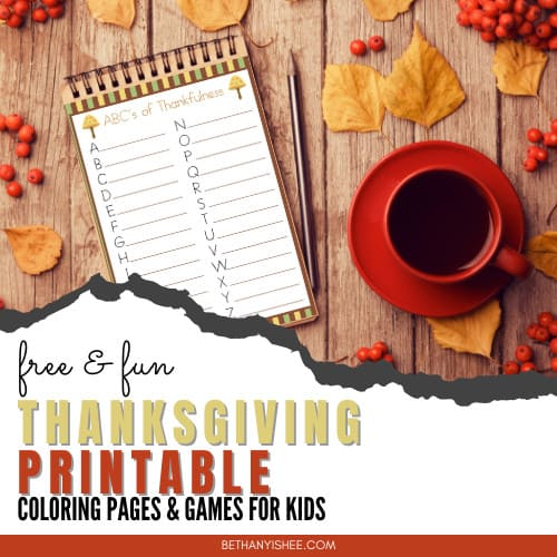 Free Thanksgiving Printable Pack for Holiday Fun