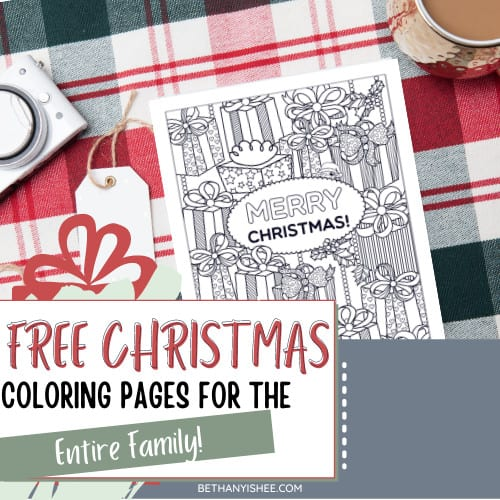 Free Christmas Coloring Pages for the Entire Family