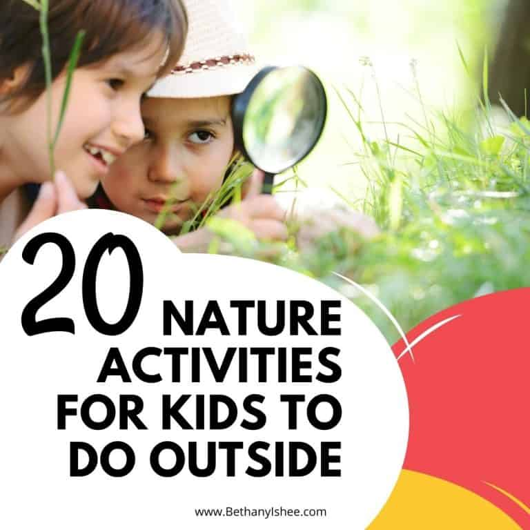 20 Nature Activities for Kids to Do Outside