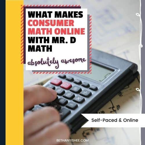 What Makes Consumer Math Online with Mr. D Absolutely Awesome