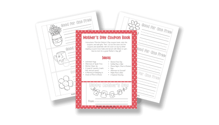 Mother's Day free printable coupon book