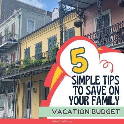 family vacation budget