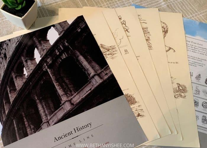 beautiful feet books intermediate ancient history timeline, middle school living books